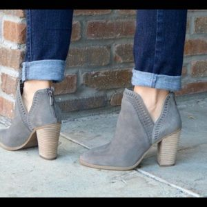 Vince Camuto Gray Fileana Suede Booties